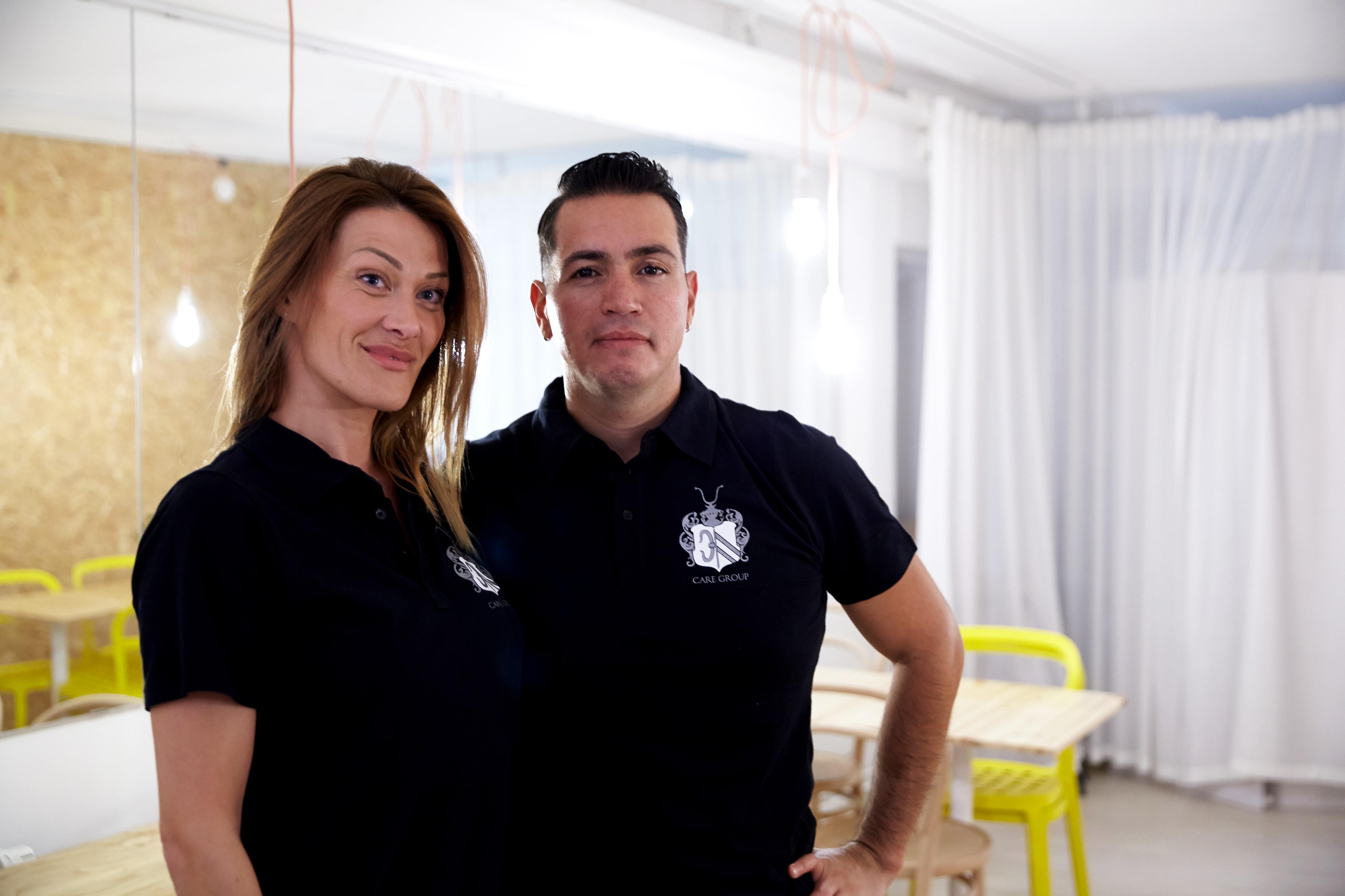 Två medarbetare på städbolaget Care Group